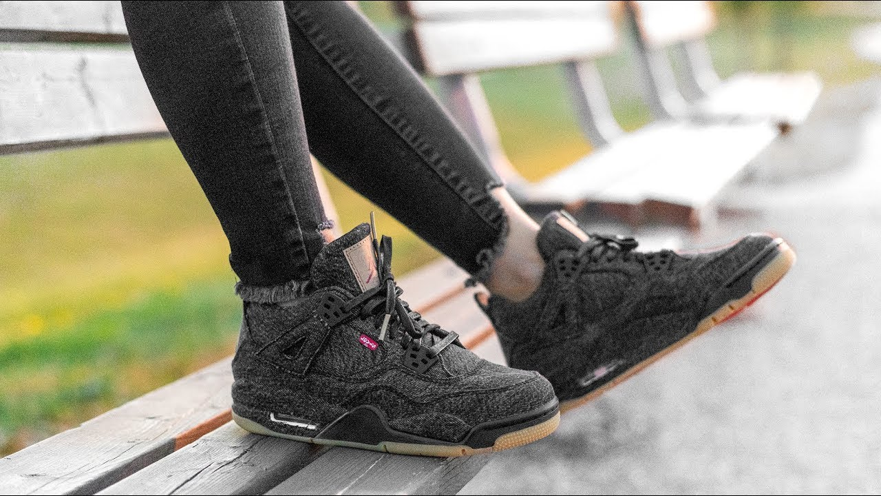 sale retailer 7b1bb b05e2 Why You SHOULDN'T MISS THIS JORDAN COLLECTION | LEVI'S x JORDAN 4 BLACK ON  FOOT REVIEW