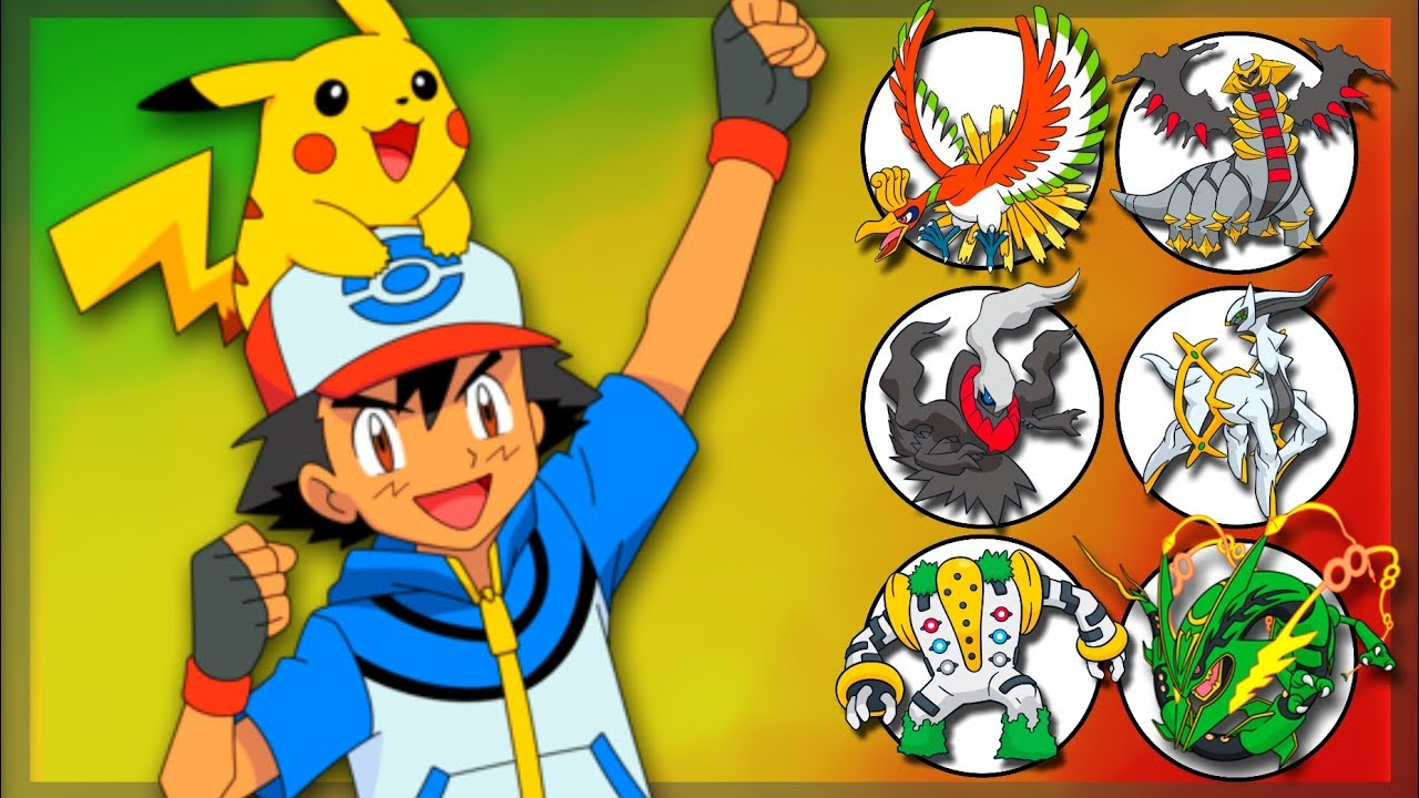 Ash Ketchum S Legendary Pokemon Team Youtube