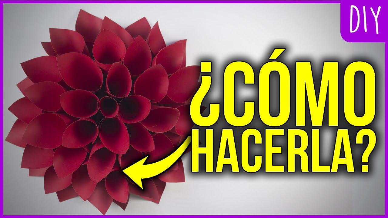 flor dalia de cartulina manualidades - Manualidades Con Cartulina