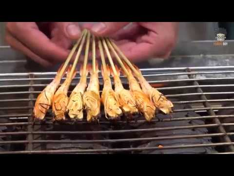 Grilled Shrimp -  Taiwanese Street Food -  Fengjia Night Market, Taichung Taiwan
