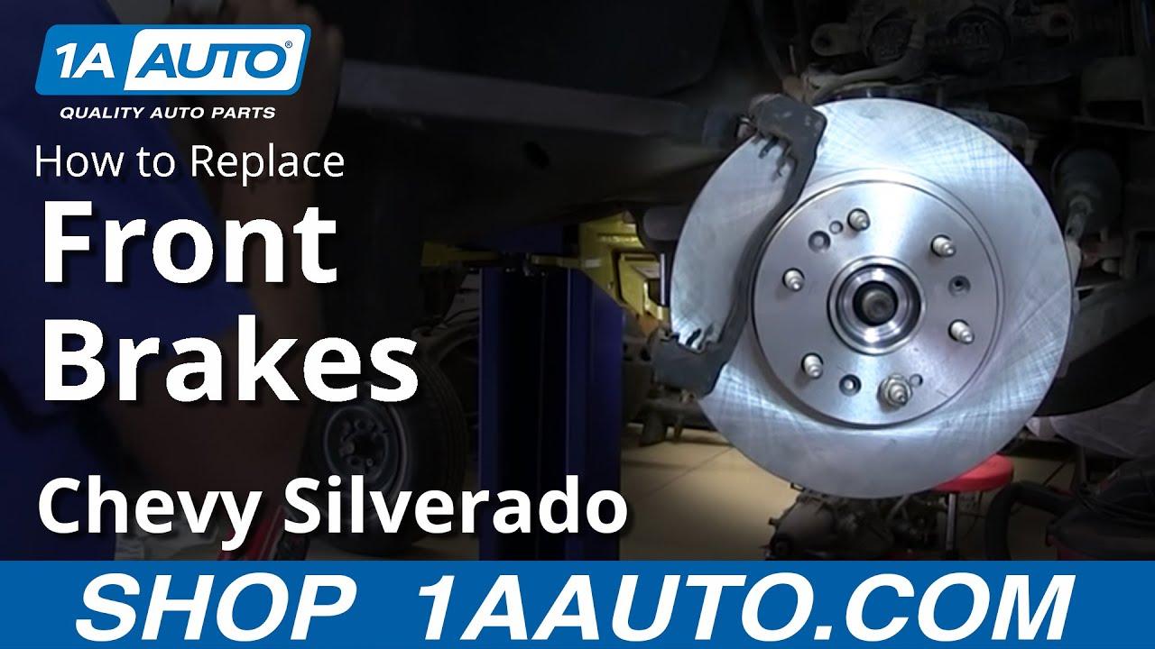 How To Install Replace Do A Front Disc Brake Job   Chevy Silverado Gmc Sierra X Youtube
