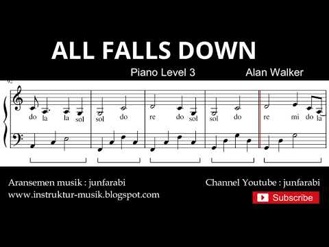 all-falls-down---tutorial-not-balok-nada-piano-tingkat-3---not-lagu-pop---instrumen