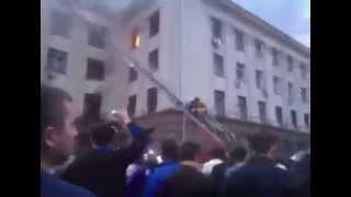 Пожар. Профсоюз. Четвертый этаж. Одесса 02 05 2014(, 2014-05-03T11:10:45.000Z)