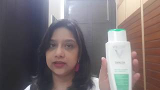 Vichy Dercos anti dandruff shampoo for oily hair review/gives volume to hair and soothes the scalp
