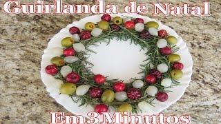 GUIRLANDA DE NATAL EM 3 MINUTOS – Super fácil e simples