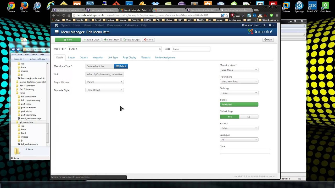 Create a Joomla Bootstrap Template From Scratch - YouTube