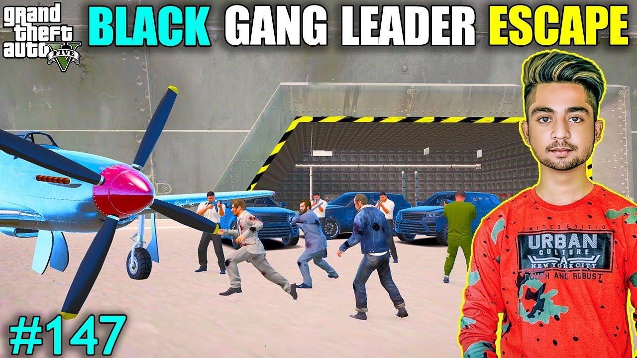 BLACK GANG LEADER ESCAPE | MICHAEL ATTACK ON WARSHIP | GTA V GAMEPLAY #147