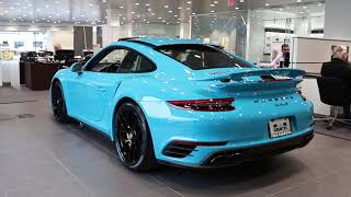Pre-Owned 2018 911 Turbo S Coupe Miami Blue | New Country Porsche of Greenwich