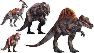 Dinozzz 3D Coloring - Size Comparison (9 Dinosaurs) | Eftsei Gaming