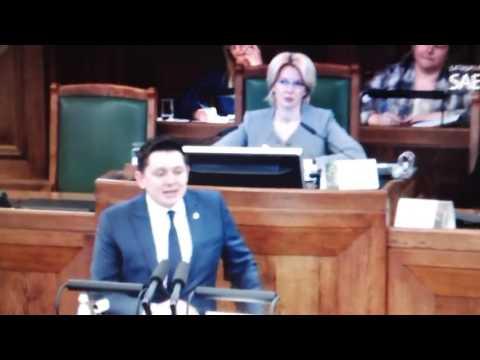 Artusa Kaimiņa sacītais Saeimā 2017.gada 30.marts