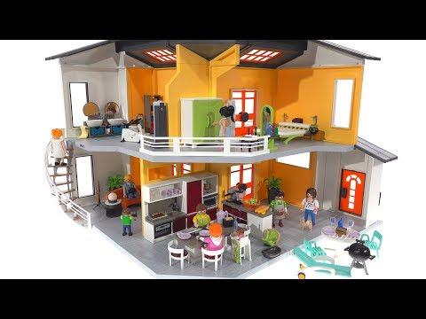 Playmobil Modern House + Full Interior! 9266 + 9267 + 9268 + 9269 + 9271