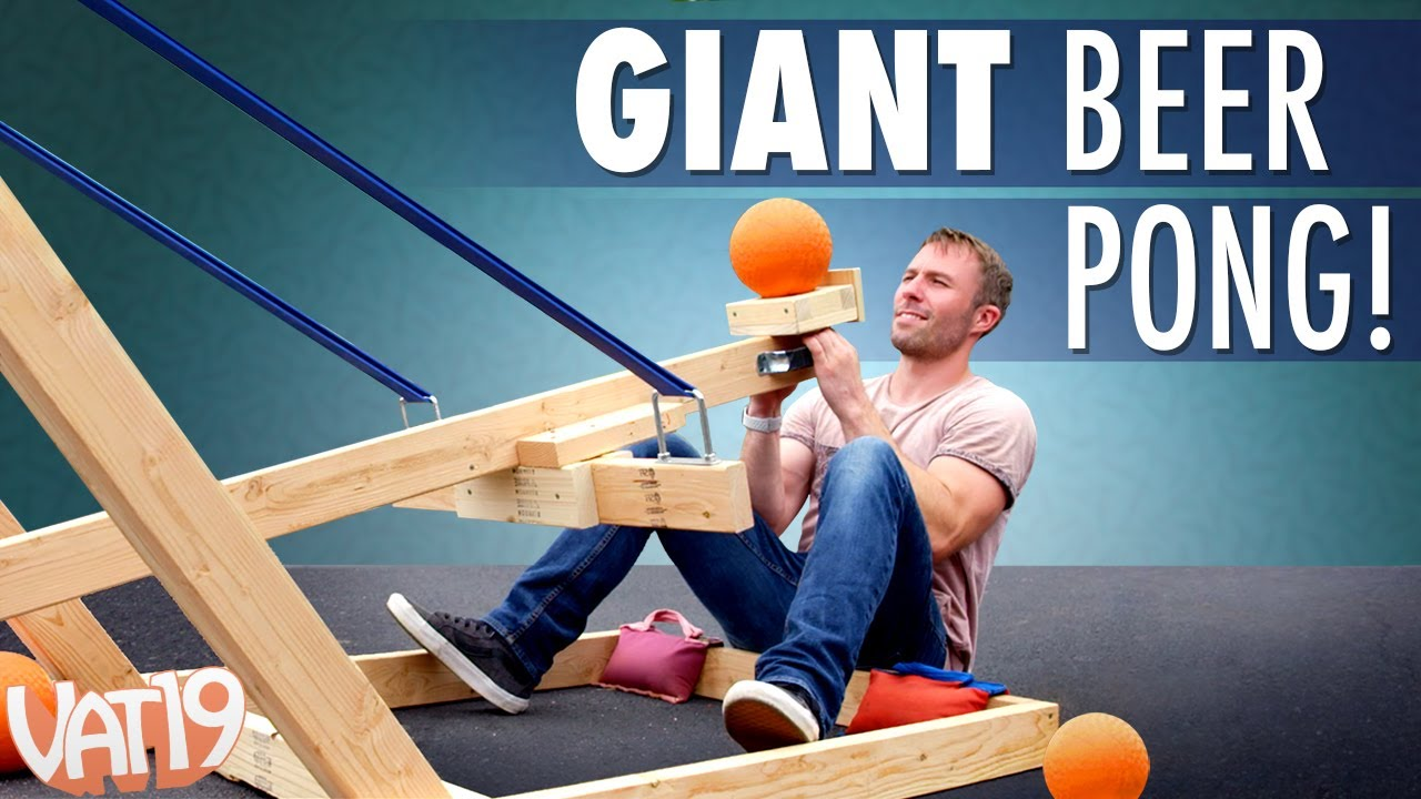 Giant Catapult Beer Pong Youtube