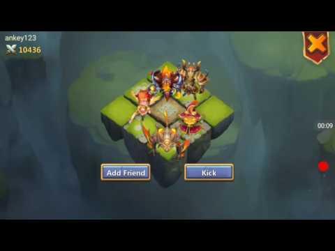 Castle Clash-Lava3 Whit Triton...amazing.99% Victory