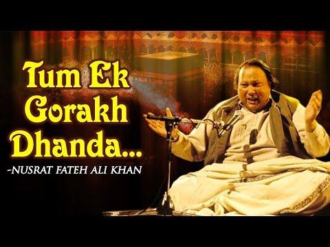 Tum Ek Gorakh Dhanda Ho by Nusrat Fateh Ali Khan with Lyrics - Popular Songs - Musical Maestros