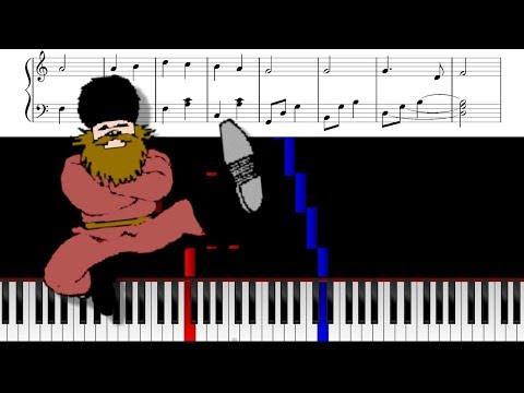 kalinka piano sheet music