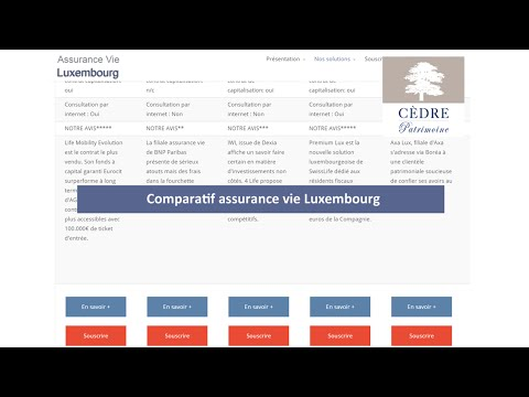 Comparatif assurance vie Luxembourg