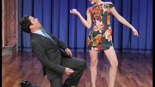 Emma Watson's Jazz Hands -  Jimmy Fallon Late Night Show