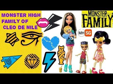 Monster High Family Of Cleo De Nile  YouTube