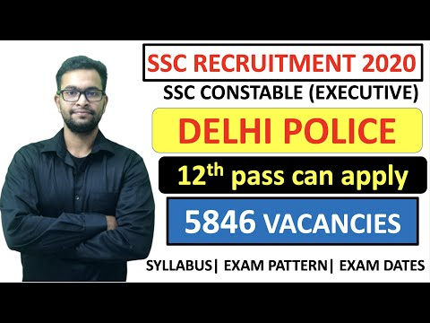 SSC New Recruitment| Delhi Constable Executive| 5846 Vacancies| complete Details| Must watch