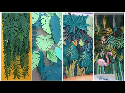 Giant Paper Leaves/Tropical  Paper Leaves arraignment//Party Decoration Ideas