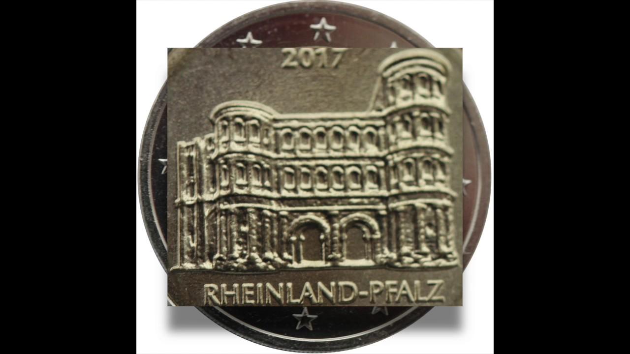 Münzen Sammeln 2 Euro 2017 Rheinland Pfalz Youtube