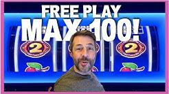 100 SPINS AT MAX BET USING FREE PLAY! ✦✦ BONUS TIMES SLOT MACHINE
