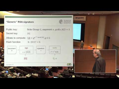 Johannes A. Buchmann - Post-Quantum Cryptography – an overview