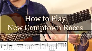 How to Play New Camptown Races on Guitar (Secondary Dominant lesson)