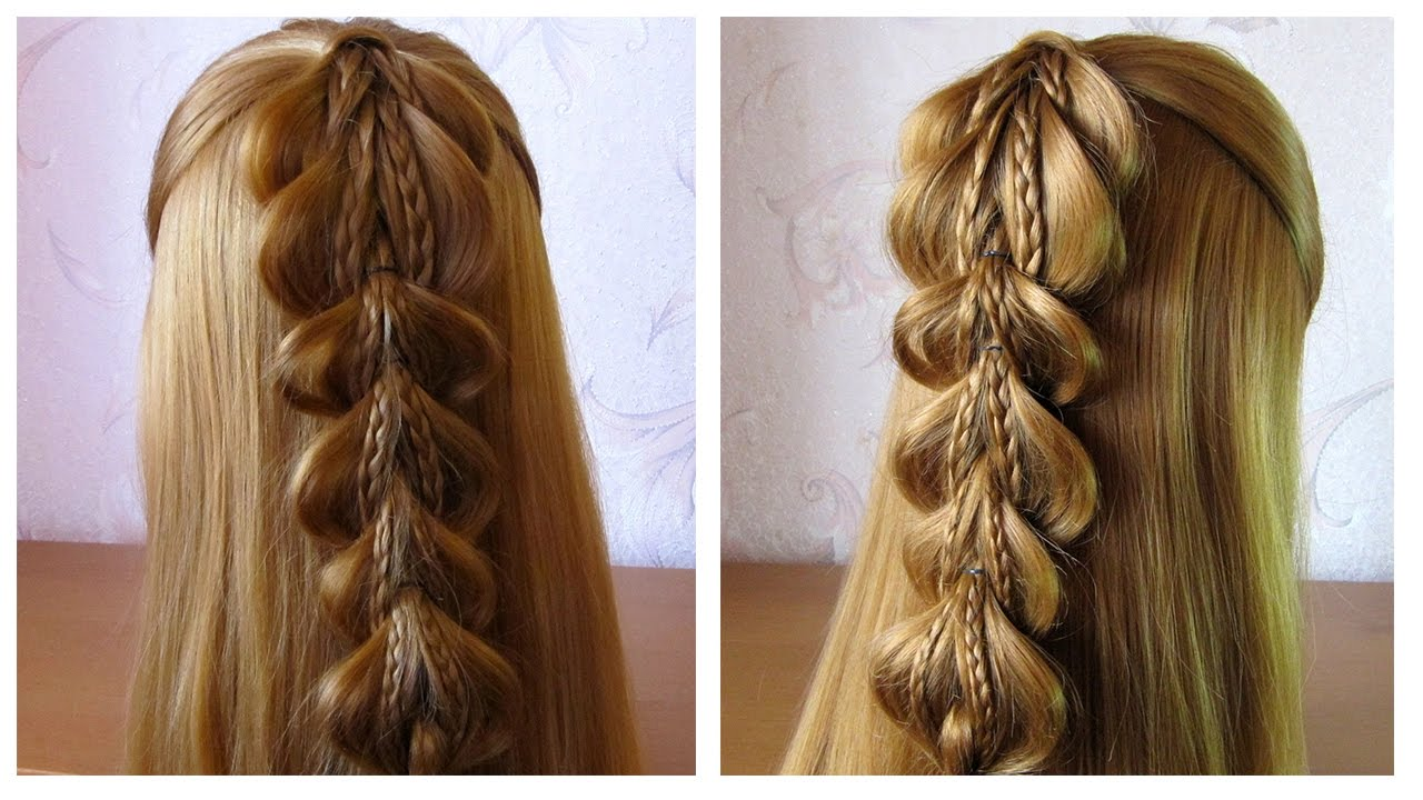 tuto coiffure simple cheveux long mi long fausse tresse avec lastiques facile a faire youtube. Black Bedroom Furniture Sets. Home Design Ideas