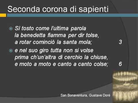 La divina Commedia, Paradiso, canto XII, vv. 1-54