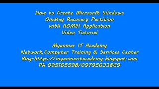 15.How to Create Microsoft Windows One Key Recovery Partition