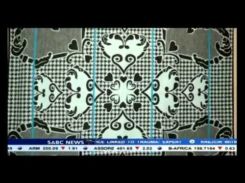 Basotho blankets on display at a Bloemfontein museum