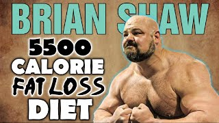 Brian Shaw || 5500 Calorie CUTTING Diet || Dexa Scan Results