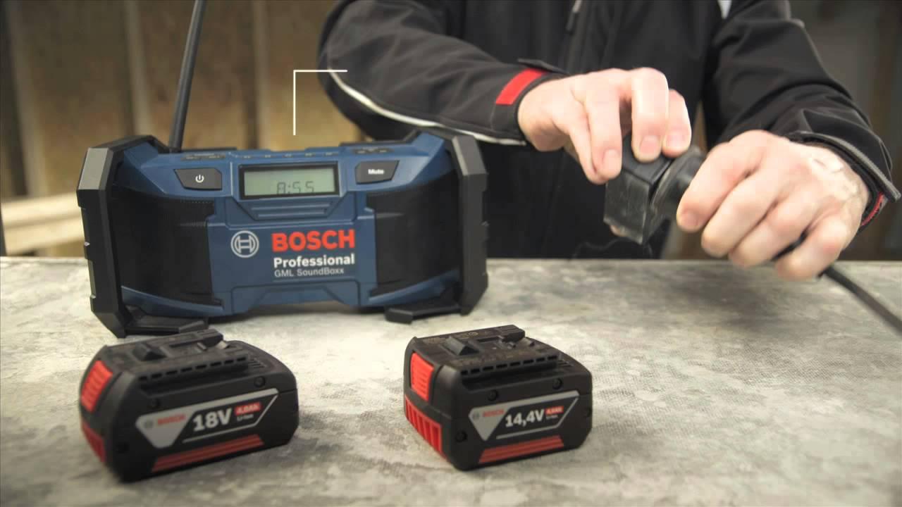 Bosch Radio   GML SoundBoxx Professional - YouTube