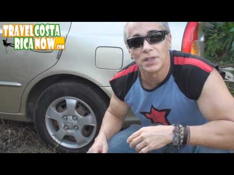 Renting A Car In Costa Rica -  Flat Tire SCAM Don't Fall For This