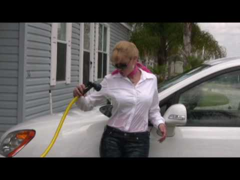 Wet jeans 02 with a hose wetlook