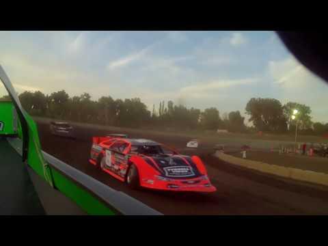 7/21/2017 Black Hills Speedway heat race in car (rear)