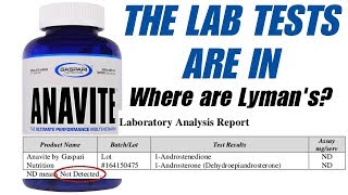Gaspari Anavite LAB TESTS - Lyman Good / USADA SHOW YOUR DATA