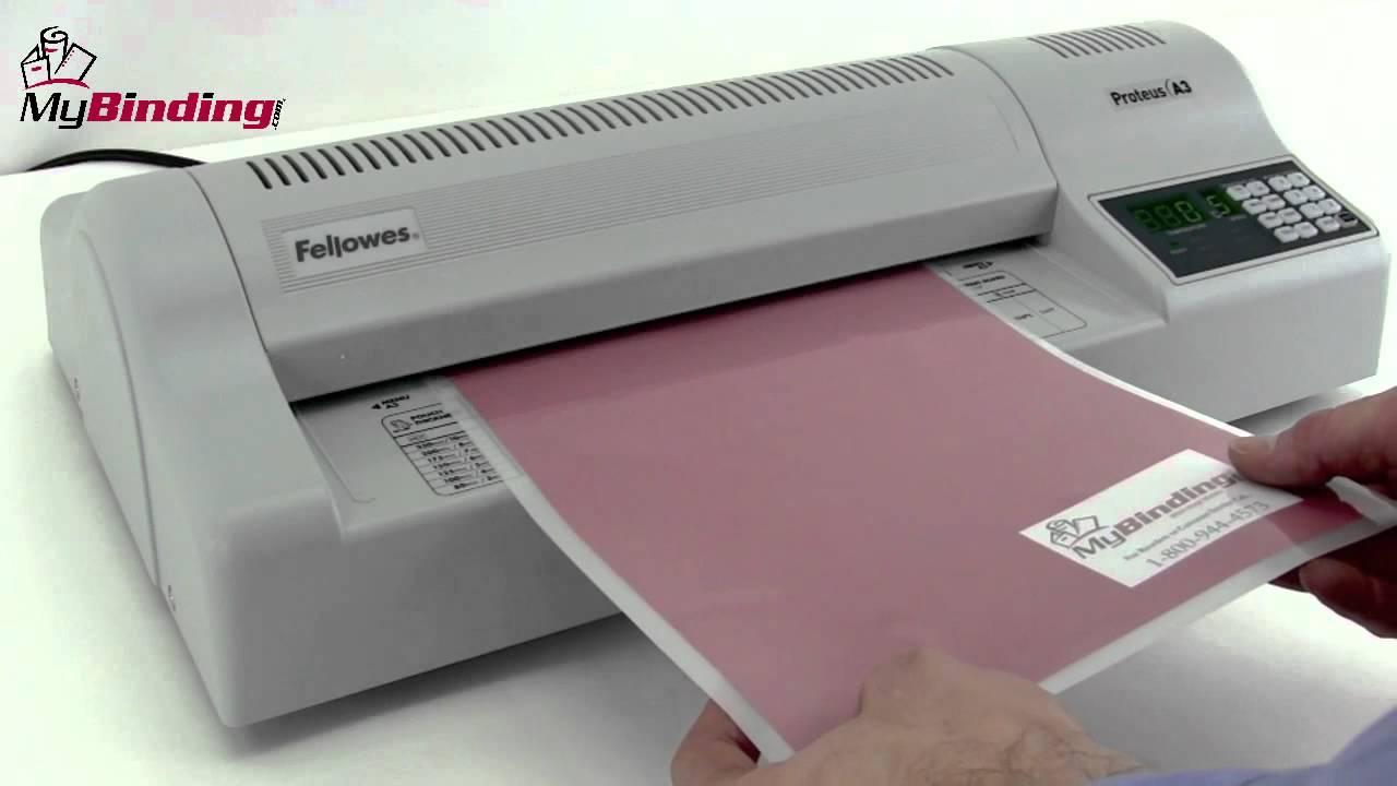 Fellowes Proteus A3 125 13-Inch Professional Laminator Demo