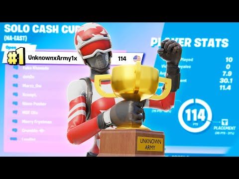 1st Place In The Fortnite Solo Cash Cup ($6000)