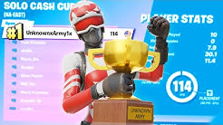 1st Place in the Fortnite Solo Cash Cup ($6000) | UnknownxArmy