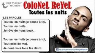 Video Colonel Reyel - Toutes les nuits - Paroles (officiel) download MP3, 3GP, MP4, WEBM, AVI, FLV November 2017