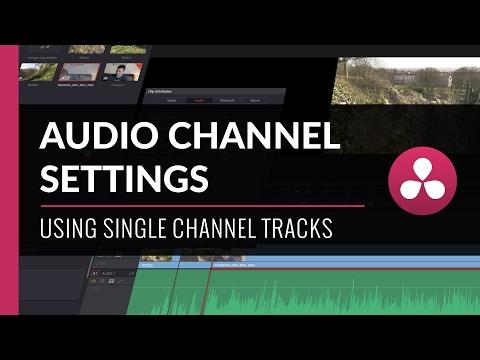 Audio Track & Channel Settings | Davinci Resolve Tutorial
