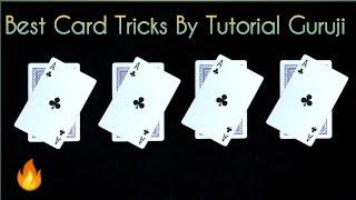 पत्ते का आसान जादू 4 Coin & card Magic by tutorial guruji