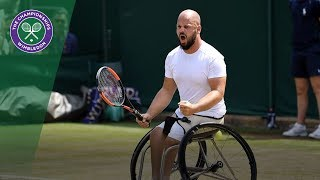 Stefan Olsson recovers from fall in dramatic Wheelchair doubles final | Wimbledon 2018