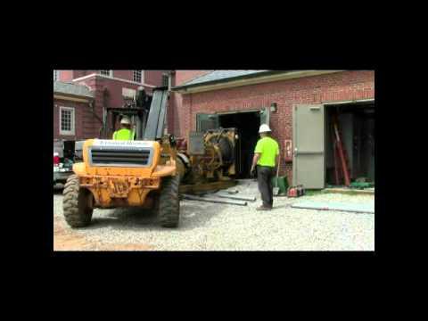 4-14-13 Lexington, Ky Job-Demo old 500kw 10,000lb generator