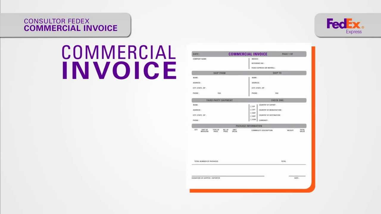 vídeo 03 commercial invoice youtube