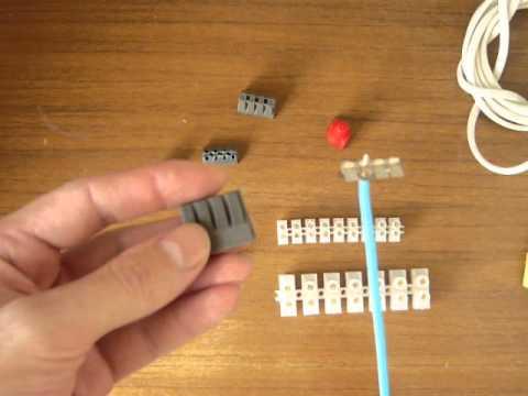 Основные типы клемм для соединения электрических проводов
