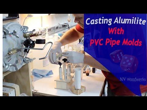 Casting Alumilite Resin in PVC Molds - NV Woodwerks