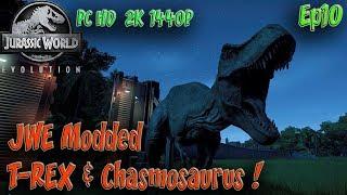 Isla Pena T-REX Chamosuarus Jurassic World Evolution Modded Ep10